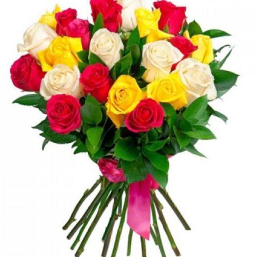 Розы микс 60см 21шт