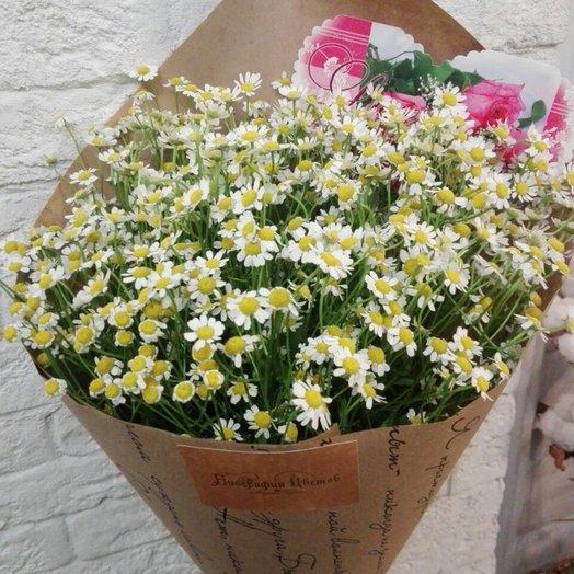Настоящие ромашки: букеты цветов на заказ Flowwow