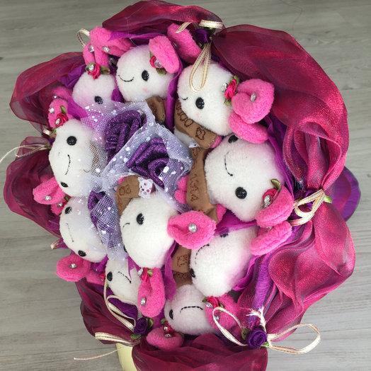 Букет из мягких игрушек: букеты цветов на заказ Flowwow