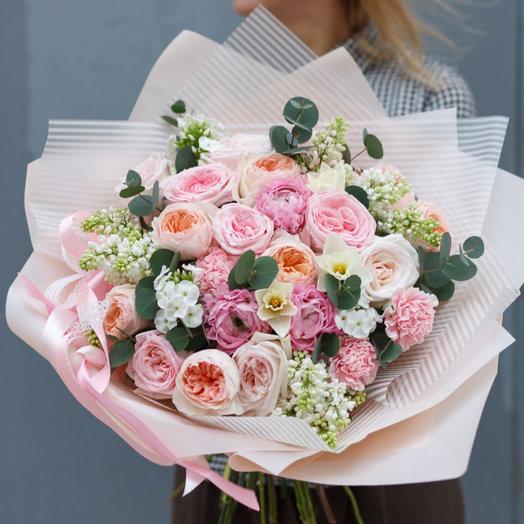 Роскошь розового: букеты цветов на заказ Flowwow