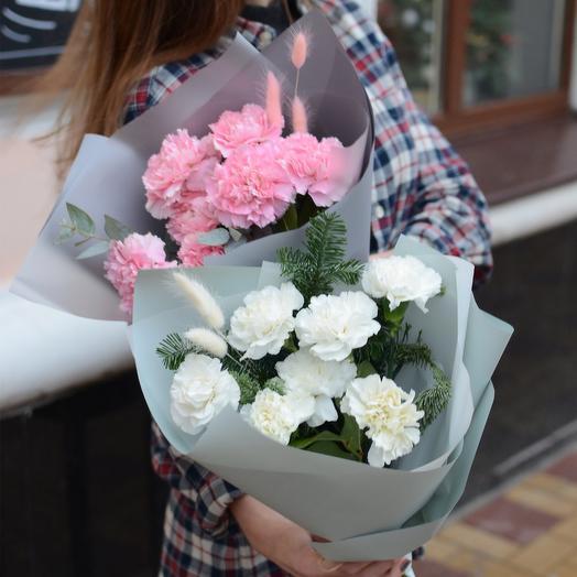 Нежный букет диантусов: букеты цветов на заказ Flowwow