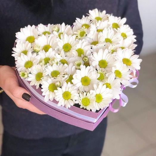 Коробочка из ромашек: букеты цветов на заказ Flowwow