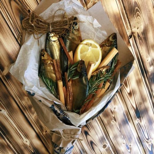 Букет из рыбы «Рыбалов»: букеты цветов на заказ Flowwow