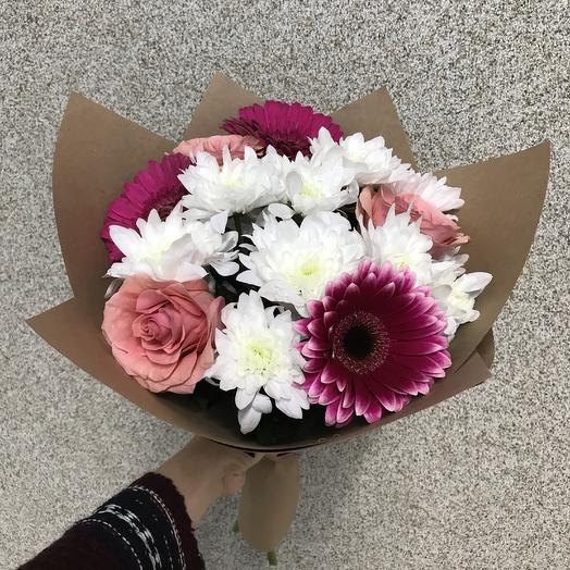 Сборный букет с герберами: букеты цветов на заказ Flowwow