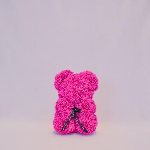 Мишка из роз RozaRose Алый - 25 см