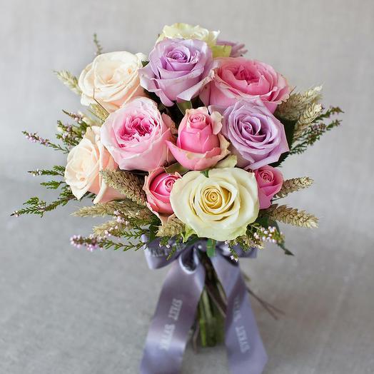 "Моно-букет из роз ""Прованс"": букеты цветов на заказ Flowwow"