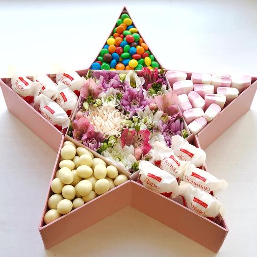 Коробочка «Звезда»: букеты цветов на заказ Flowwow