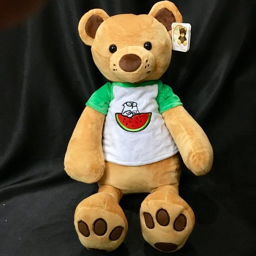 """Плюшевый медведь """"Коди"""": букеты цветов на заказ Flowwow"""
