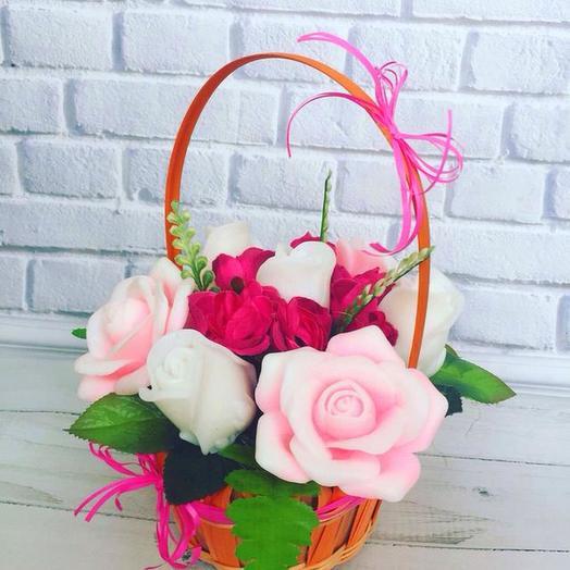 РОЗА ИЗ МЫЛА. Люблю: букеты цветов на заказ Flowwow