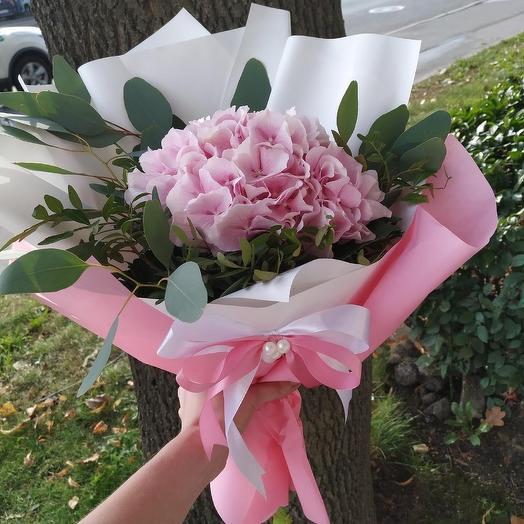 """Букет """"Розовая гортензия"""": букеты цветов на заказ Flowwow"""