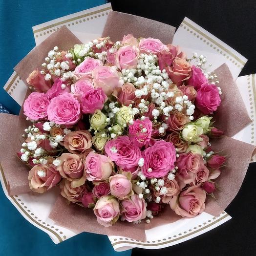 Букет Розовое Настроение: букеты цветов на заказ Flowwow