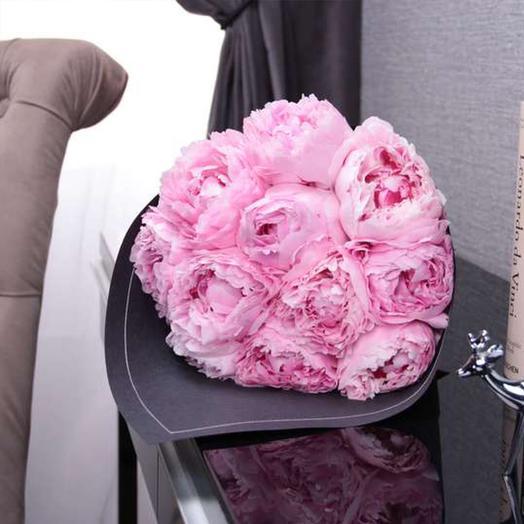 """Букет из 11 пионов """"Sarah Bernhardt"""" BLVCK: букеты цветов на заказ Flowwow"""