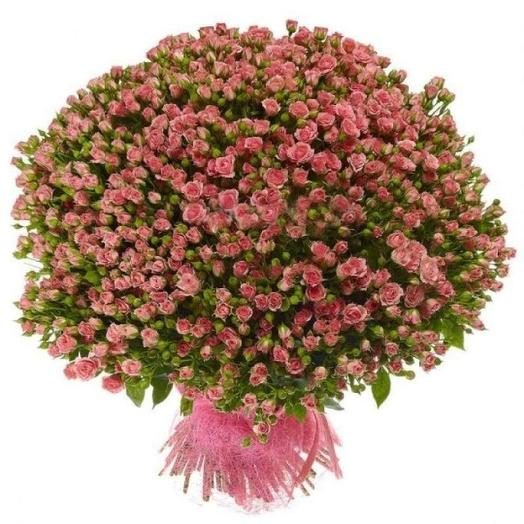 Кустовые розы 101 шт: букеты цветов на заказ Flowwow