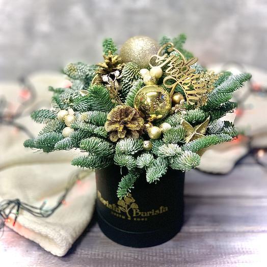 Золотая коробочка NewYear2020: букеты цветов на заказ Flowwow