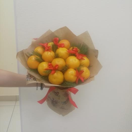 Мандариновый букет: букеты цветов на заказ Flowwow