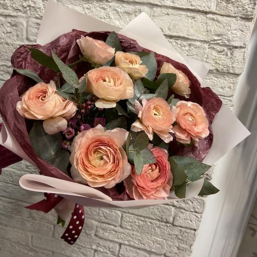 Шикарные ранункулюсы для любимой: букеты цветов на заказ Flowwow