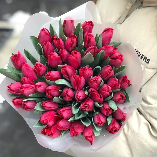 Моно красные тюльпаны