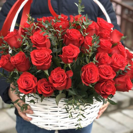 Basket of 51 roses