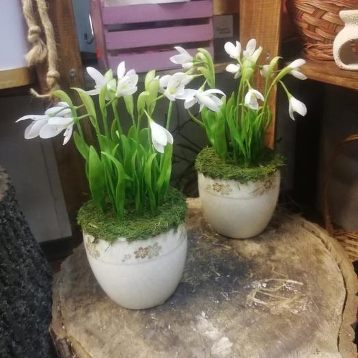 Композиция подснежники из полимерной глины: букеты цветов на заказ Flowwow