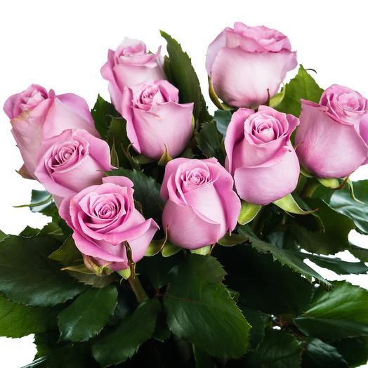 9 сиреневых роз: букеты цветов на заказ Flowwow