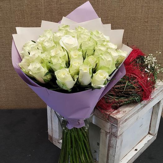 Роза (Кения) 40 см 35 шт. в упаковке
