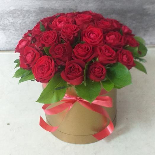 31 карасная роза каробка Gold