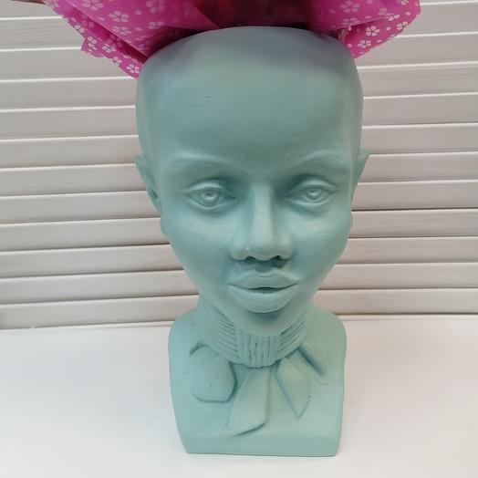 Скульптура - вазон ручной работы