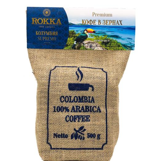 "Кофе в зернах ""Rokka"" Колумбия Супремо"