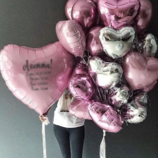 Набор воздушных гелевых шаров на день рождения