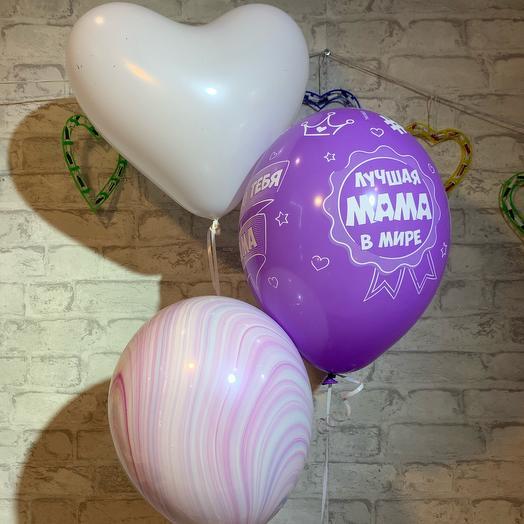 Набор из 3х шаров «Для мамы» с гелием и hifloat