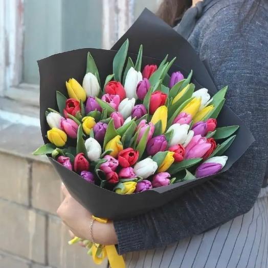 Тюльпаны « яркие краски»