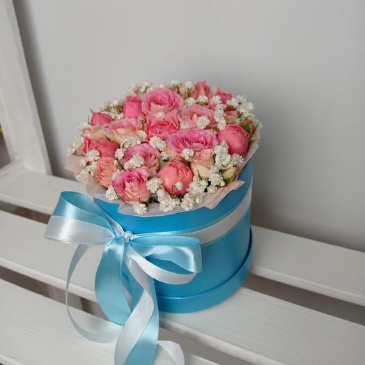 """""""Розовая лагуна"""" С розами в шляпной коробке"""