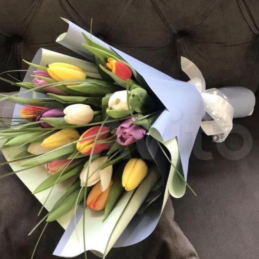 Букет тюльпан микс 25