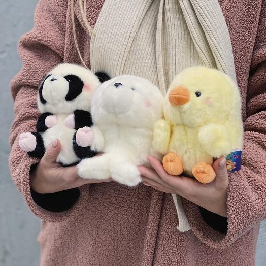 """Мягкая игрушка """"домашний зоопарк"""" (ЦЕНА ДЕЙСТВИТЕЛЬНА ТОЛЬКО ПРИ ЗАКАЗЕ БУКЕТА)"""