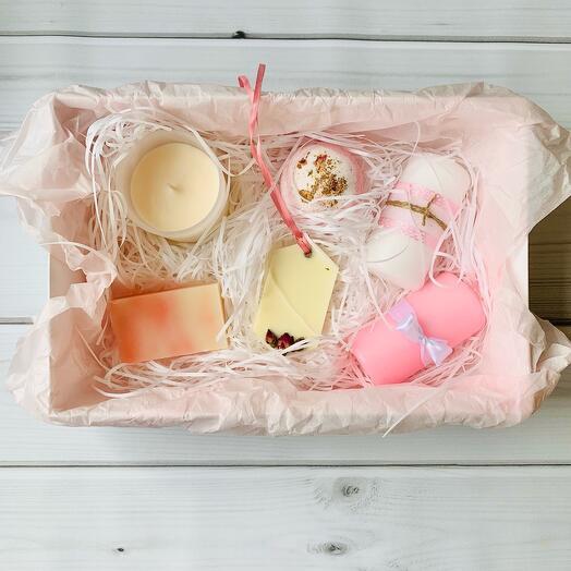 Набор для ванны «Розовый вечер»