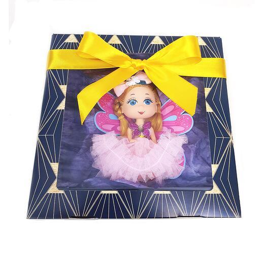 """Набор детский 3+ """"Кукла Юленька"""" (кукла с крыльями-раскрасками + мыло в подарок)"""