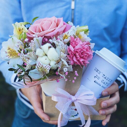 Сет 1. Кофе с цветами