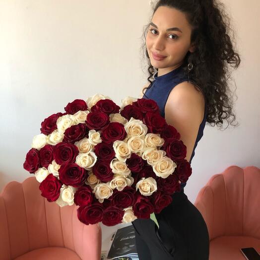 Букет из роз эквадор 70 см