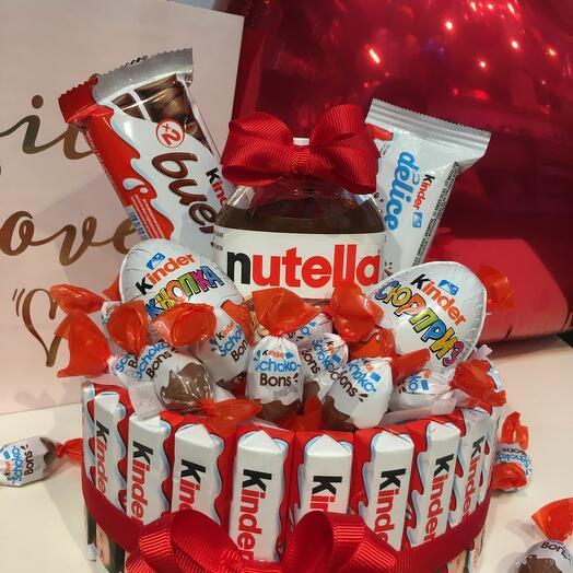 Сладкий подарочный набор Kinder/Nutella