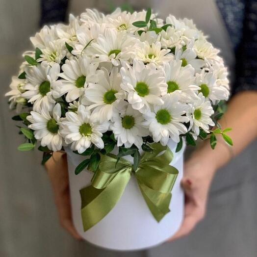 """Цветы в коробке """"Ромашка"""""""