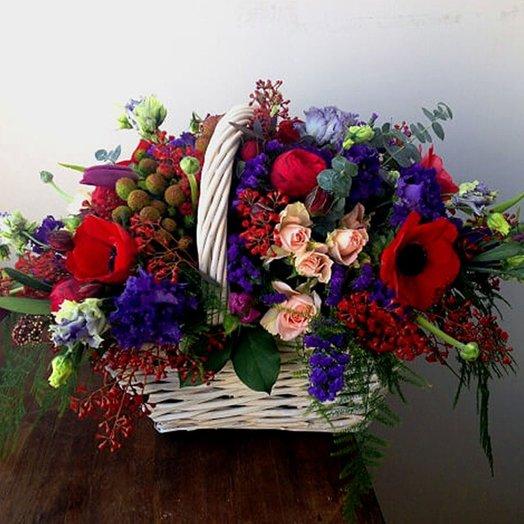Корзина Маков цвет: букеты цветов на заказ Flowwow