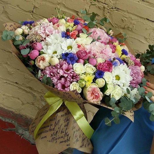 Шикарный сборный букет Цвет Лета: букеты цветов на заказ Flowwow