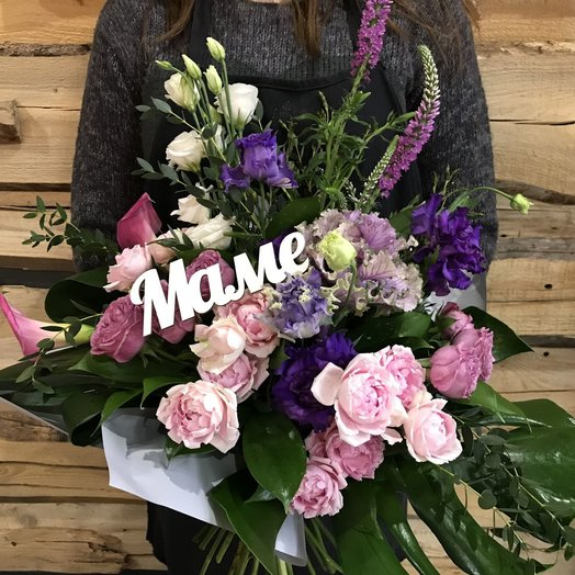 Букет с садовой розой: букеты цветов на заказ Flowwow