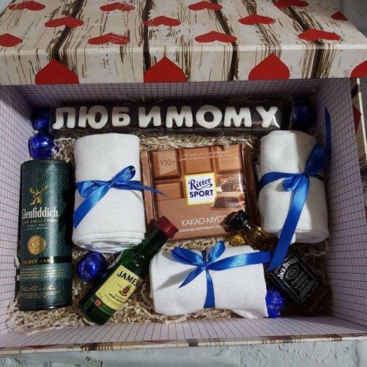 Коробка для мужчин: букеты цветов на заказ Flowwow
