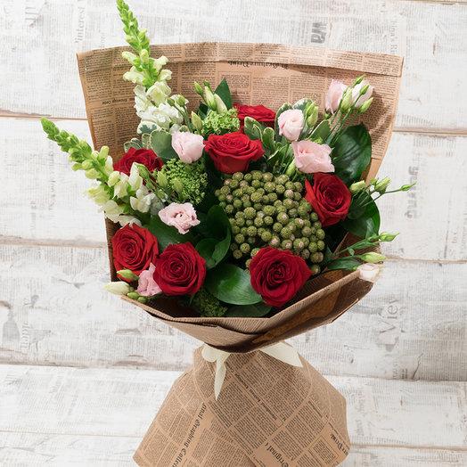 Дама в красном: букеты цветов на заказ Flowwow