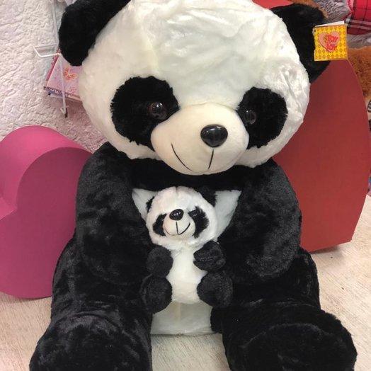 Плюшевая панда: букеты цветов на заказ Flowwow