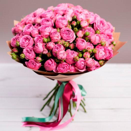 Букет из 29-ти кустовых роз «Мисти баблс»: букеты цветов на заказ Flowwow