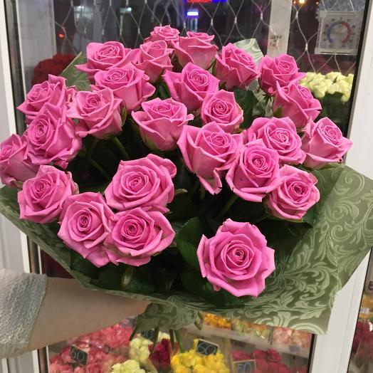 Монобукет из розовых роз: букеты цветов на заказ Flowwow