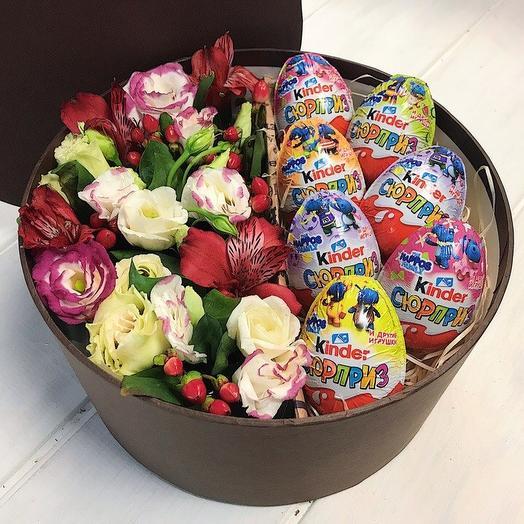 Коробочка со сладостями 4: букеты цветов на заказ Flowwow