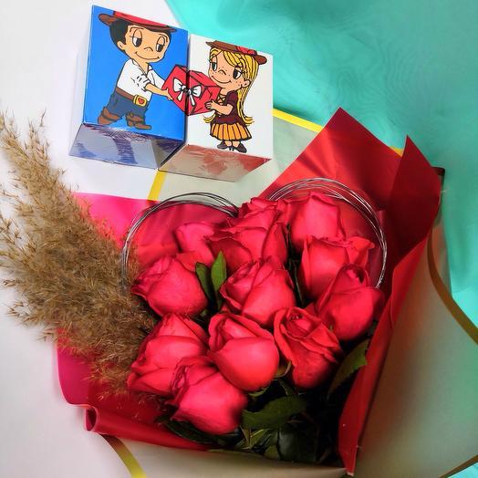 Букет сердце на каркасе: букеты цветов на заказ Flowwow